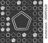 silver metallic line pentagon...