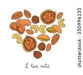 nuts. icons in the shape of a... | Shutterstock .eps vector #350996135