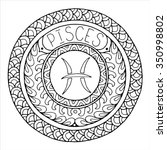 zodiac sign of pisces and... | Shutterstock .eps vector #350998802