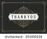thank you typography message... | Shutterstock .eps vector #351000236