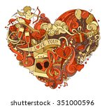 Gold And Red Heart Illustratio...