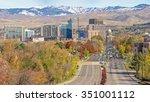 boise city of trees skyline in... | Shutterstock . vector #351001112
