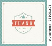 thank you message text vintage... | Shutterstock .eps vector #351001676