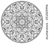 mandala. vintage round ornament ... | Shutterstock .eps vector #351005996