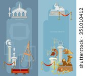 art gallery antique museum...   Shutterstock .eps vector #351010412