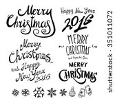 merry christmas and happy new... | Shutterstock . vector #351011072