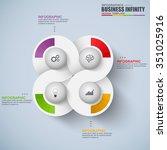 infographic vector design... | Shutterstock .eps vector #351025916