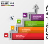 infographics business stair... | Shutterstock .eps vector #351025952