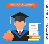 invest in education concept.... | Shutterstock .eps vector #351029186