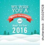 merry christmas vintage... | Shutterstock .eps vector #351029528