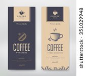 coffee packaging design. vector ... | Shutterstock .eps vector #351029948