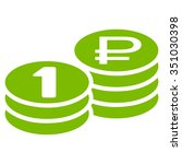 rouble coin stacks vector icon. ... | Shutterstock .eps vector #351030398