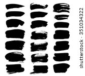 set of thick strokes of black... | Shutterstock .eps vector #351034322