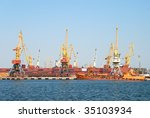 view on trading seaport with... | Shutterstock . vector #35103934