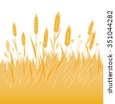 field of wheat  barley or rye... | Shutterstock .eps vector #351044282