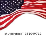 usa flag background | Shutterstock . vector #351049712