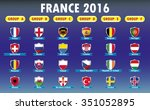 france 2016 football icons... | Shutterstock .eps vector #351052895