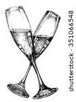 glass of champagne | Shutterstock .eps vector #351066548
