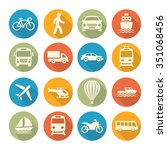transport icons | Shutterstock . vector #351068456
