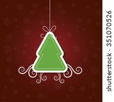 christmas card with christmas... | Shutterstock .eps vector #351070526