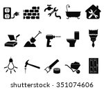 house repair icons set | Shutterstock .eps vector #351074606