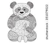 Hand Drawn Zentangle Panda For...