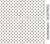 vector polka dot hand drawn... | Shutterstock .eps vector #351079052