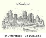 canada montreal cruise liner... | Shutterstock .eps vector #351081866