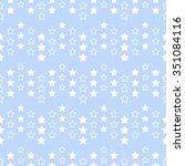 seamless tiled christmas blue... | Shutterstock .eps vector #351084116
