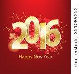happy new year 2016 | Shutterstock .eps vector #351089252