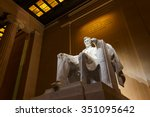 lincoln memorial illuminated at ... | Shutterstock . vector #351095642