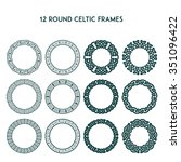 collection of various round... | Shutterstock .eps vector #351096422