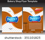 bakery shop flyer template  ... | Shutterstock .eps vector #351101825