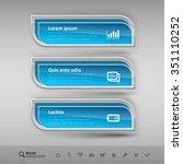 business banners on the light...   Shutterstock .eps vector #351110252
