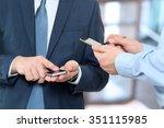 close up of a business men... | Shutterstock . vector #351115985