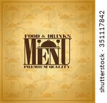 restaurant food and drinks menu ... | Shutterstock .eps vector #351117842