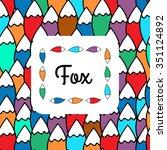 fox's tail pattern | Shutterstock .eps vector #351124892