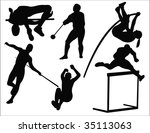 athletics sport collection... | Shutterstock .eps vector #35113063