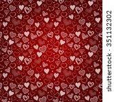 valentine's day card. denim... | Shutterstock .eps vector #351132302