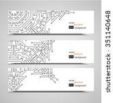 banner printed circuit board   Shutterstock .eps vector #351140648