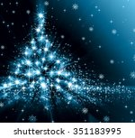 christmas blue tree  beautiful... | Shutterstock . vector #351183995
