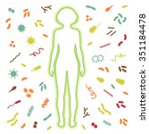 immune protection system.... | Shutterstock .eps vector #351184478