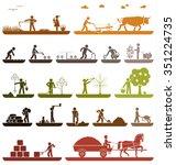 set of pictogram icons... | Shutterstock .eps vector #351224735