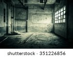 abandoned room with broken... | Shutterstock . vector #351226856