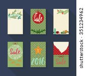 christmas and happy new year... | Shutterstock .eps vector #351234962