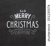 christmas typographic... | Shutterstock .eps vector #351235376
