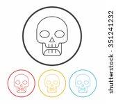 poison line icon | Shutterstock .eps vector #351241232