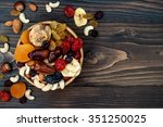 Mix Of Dried Fruits And Nuts On ...