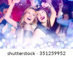 glowing background against... | Shutterstock . vector #351259952