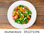 healthy and diet food  salad ... | Shutterstock . vector #351271196